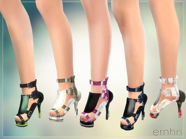 Sims 4 Platform Maya Sandals by ernhn at TSR