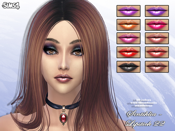 Sims 4 Lipstick 22 by Sintiklia Sims at TSR
