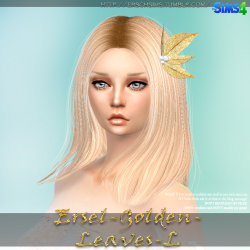 Sims 4 Golden Leaves by Ersel at ErSch Sims