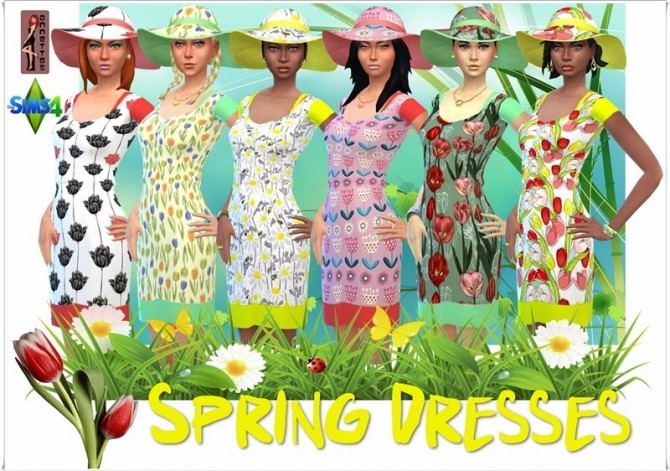 Spring Dresses & Hat at Annett's Sims 4 Welt image 52111 670x471 Sims 4 Updates