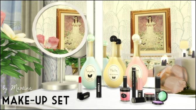 Perfume Bottles, Lipsticks, Make Up Set, Vanity Mirrors at Martine's Simblr image 5213 Sims 4 Updates