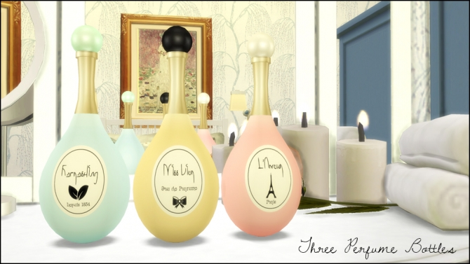 Perfume Bottles, Lipsticks, Make Up Set, Vanity Mirrors at Martine's Simblr image 5312 Sims 4 Updates