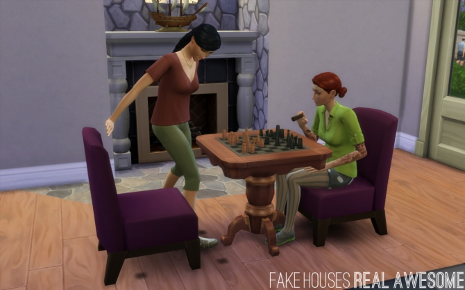 Sims 4 Lap of Luxury Modern Chair as Desk/Dining Chair at Fake Houses Real Awesome