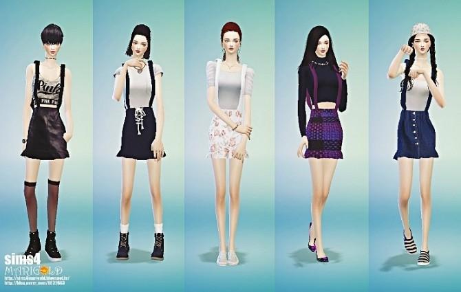 Suspender Mermaid Mini Skirt At Marigold 187 Sims 4 Updates