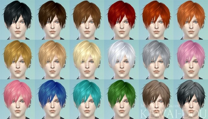 3kan4on Male Hair By Mia At KEWAI-DOU » Sims 4 Updates