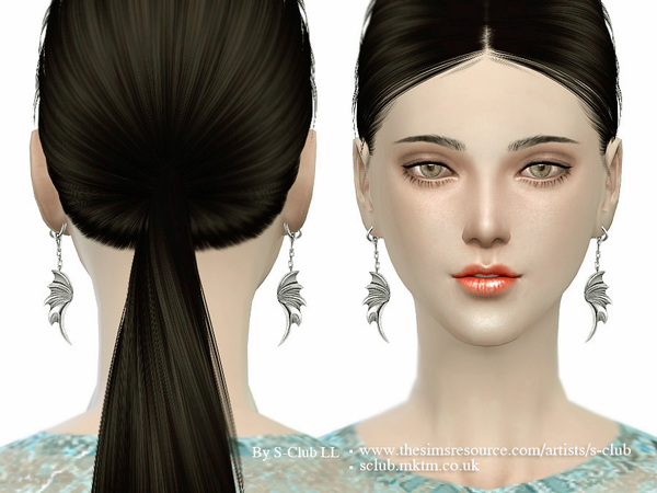 Sims 4 Earrings 01 by S Club LL at TSR