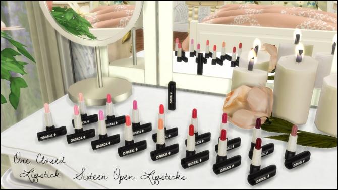 Perfume Bottles, Lipsticks, Make Up Set, Vanity Mirrors at Martine's Simblr image 5410 Sims 4 Updates