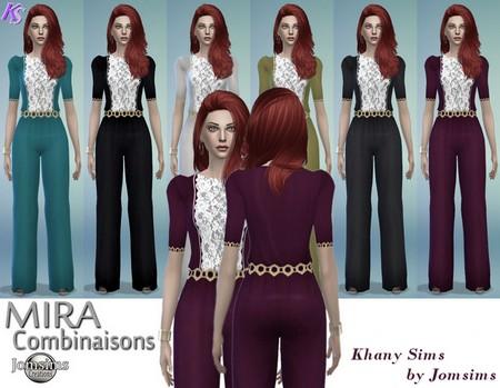 MIRA combinaisons by Jomsims at Khany Sims image 5417 Sims 4 Updates