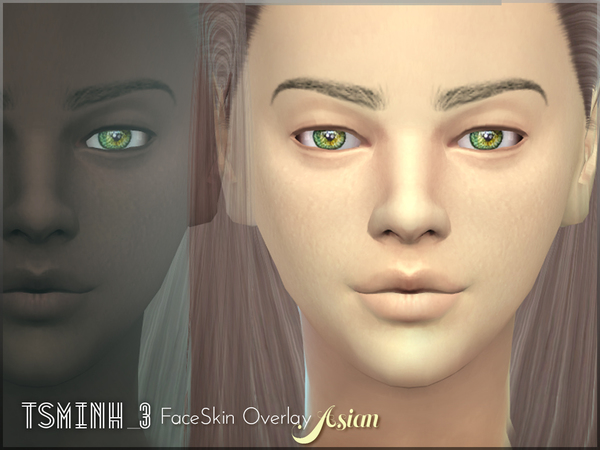 Asian FaceSkin Overlay by tsminh 3 at TSR image 5516 Sims 4 Updates