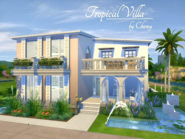 Tropical Villa By Chemy At Tsr 187 Sims 4 Updates