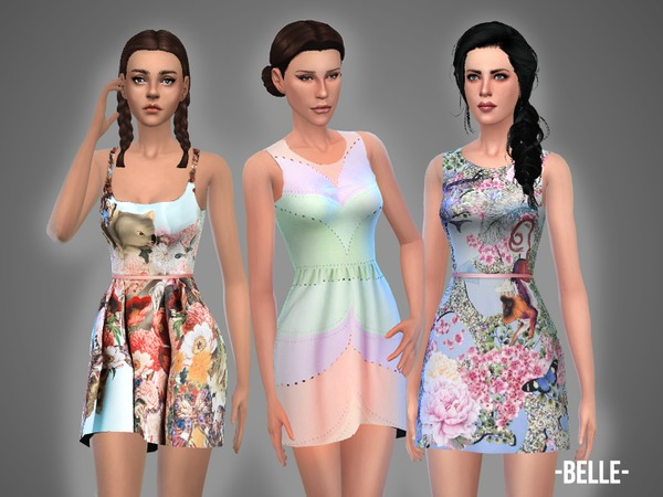 Belle dresses set by April at TSR image 560 Sims 4 Updates
