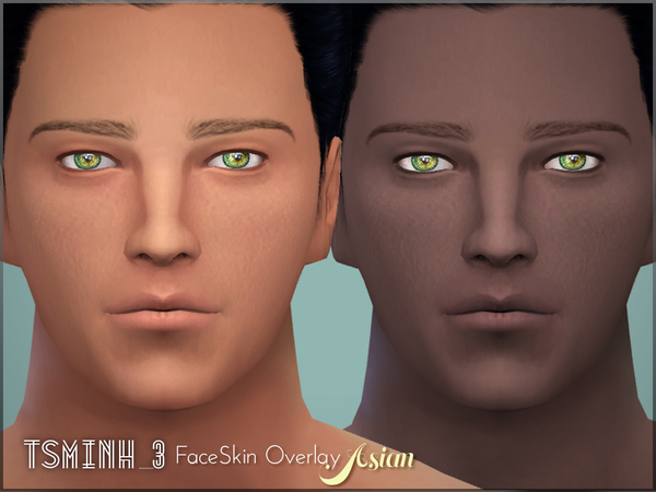 Asian FaceSkin Overlay by tsminh 3 at TSR image 5613 Sims 4 Updates