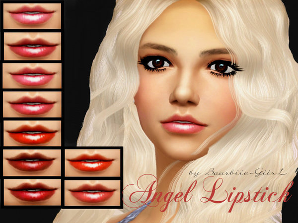 Sims 4 Angel Lipstick with Teeth by Baarbiie GiirL at TSR
