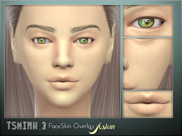 Asian FaceSkin Overlay by tsminh 3 at TSR image 5714 Sims 4 Updates
