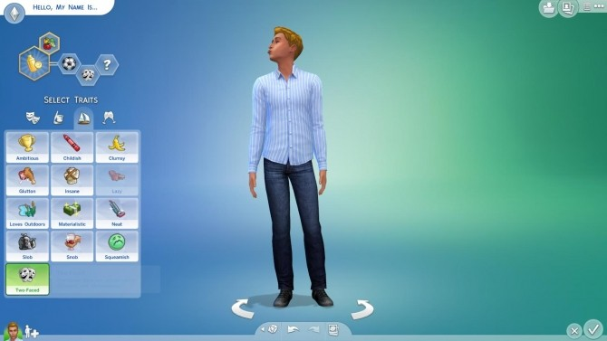 Sims 4 Two Faced Trait by TS4WORLD at Mod The Sims