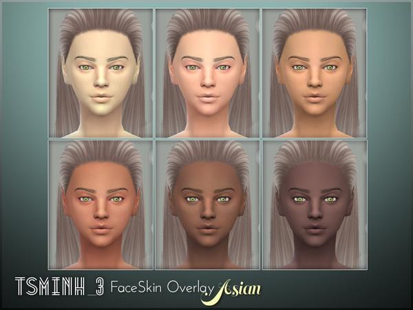 Asian FaceSkin Overlay by tsminh 3 at TSR image 5814 Sims 4 Updates