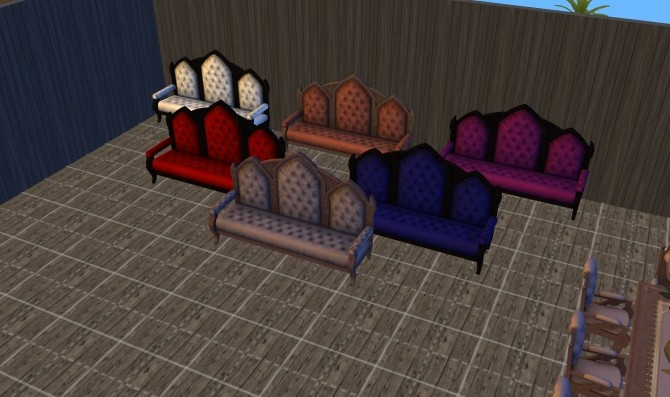 Sims 4 Gothique Living set ts3 to ts4 by g1g2 at Mod The Sims