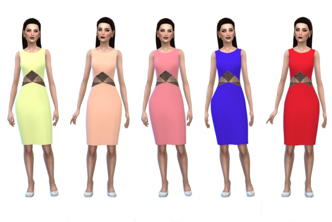 Sims 4 Peek A Boo Cutout Dress at Belle's Simblr