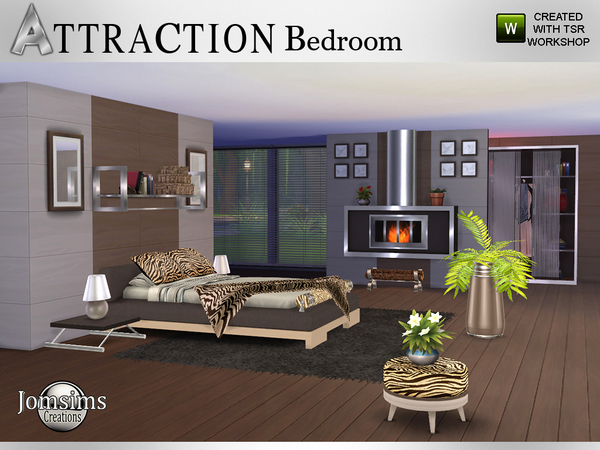 Attraction Bedroom by jomsims at TSR image 603 Sims 4 Updates