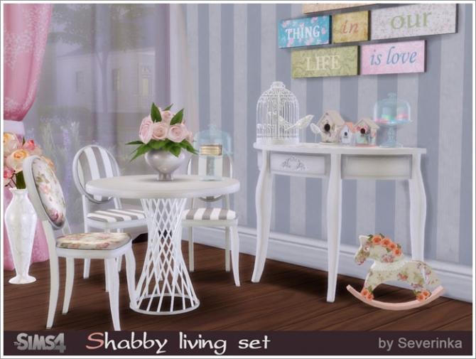 Sims 4 Shabby living set at Sims by Severinka