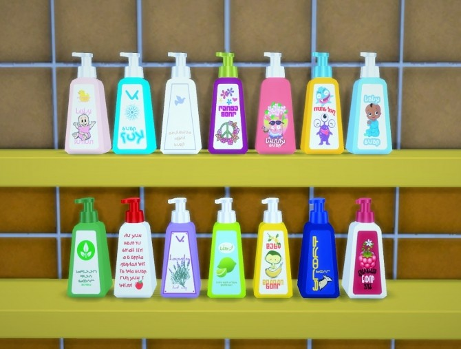 Soap Fest! Recolor of OBP bathroom clutter at Budgie2budgie image 61121 670x507 Sims 4 Updates