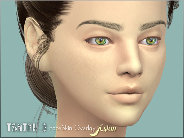 Asian FaceSkin Overlay by tsminh 3 at TSR image 6117 Sims 4 Updates