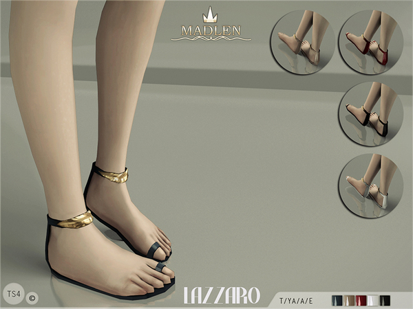 Sims 4 Madlen Lazzaro Sandals by MJ95 at TSR