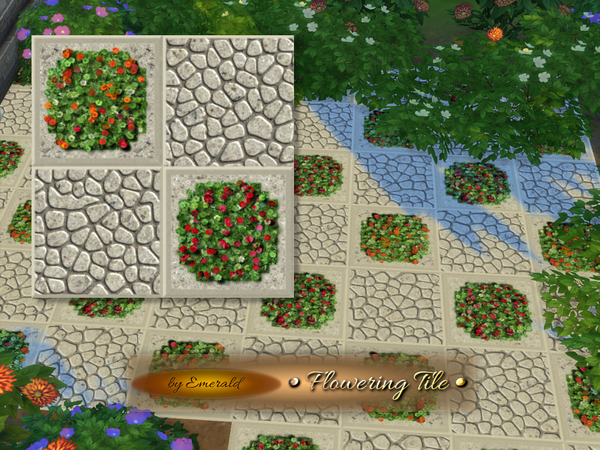 Sims 4 Flowering Tile by emerald at TSR