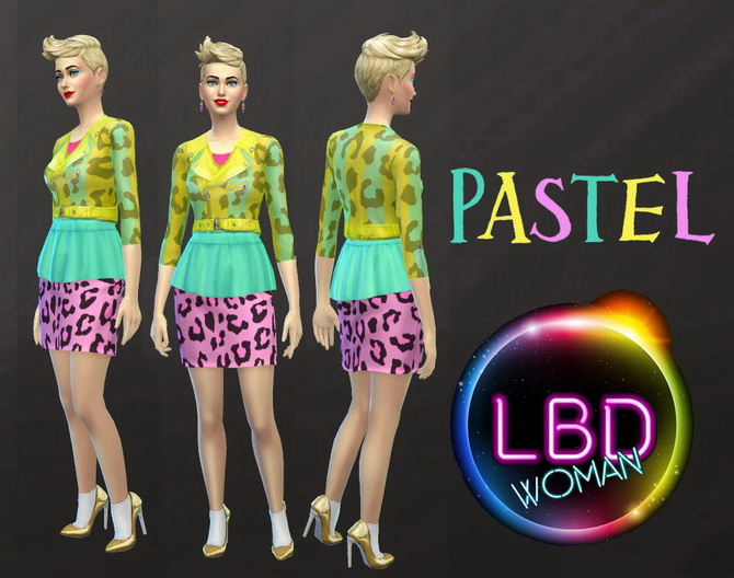 LBD Pastel SS15 by jeancr874 at La Boutique de Jean image 650 Sims 4 Updates