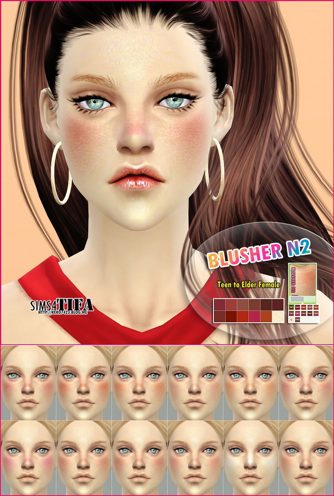 Blusher N2 M/F at Tifa Sims image 6510 Sims 4 Updates