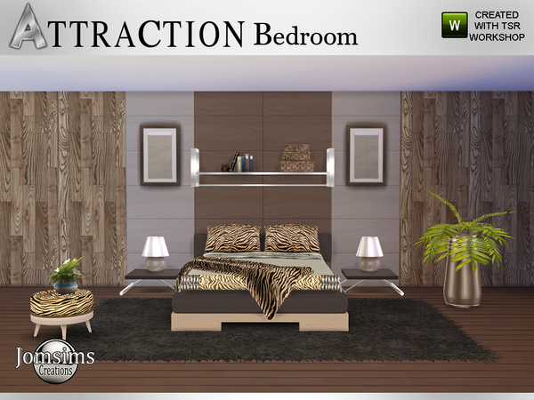 Attraction Bedroom by jomsims at TSR image 653 Sims 4 Updates