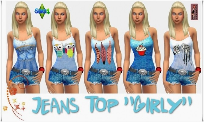 Girly denim top at Annett's Sims 4 Welt image 6531 670x401 Sims 4 Updates