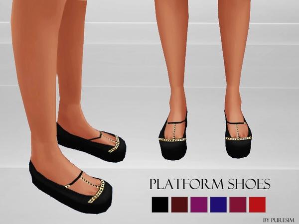 Platform shoes at Puresim image 659 Sims 4 Updates