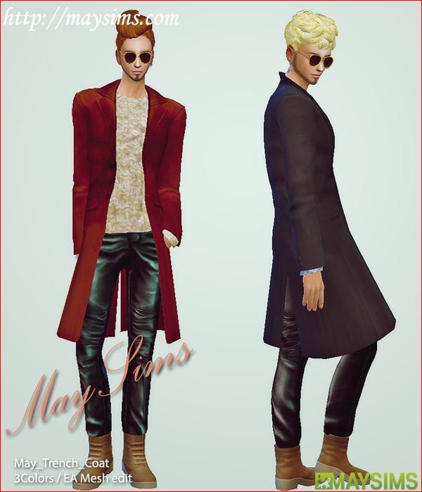 Trench Coat At May Sims 187 Sims 4 Updates
