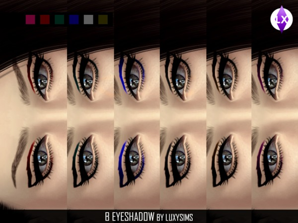 Eyeshadow B by LuxySims3 at TSR image 6815 Sims 4 Updates