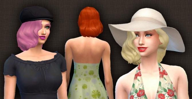 Sims 4 Medium Wavy Classic hair at My Stuff