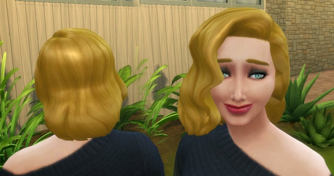 Sims 4 Medium Wavy Classic hair at My Stuff