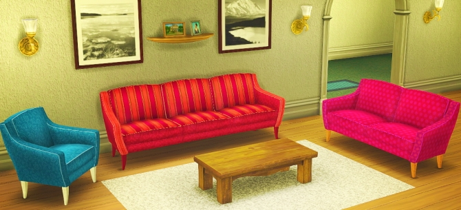 Holy Simoly's Amarante sofa, love seat, and chairs converted at Dockamorpher CHUMCHA image 695 Sims 4 Updates