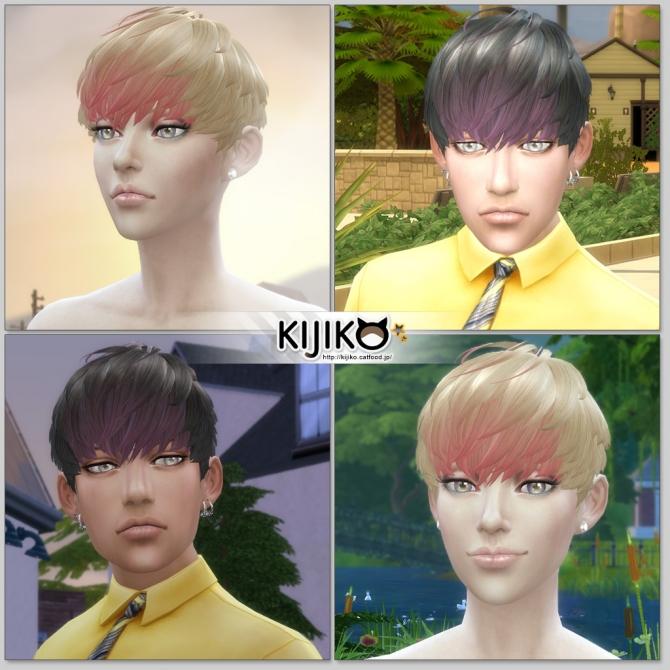 Sims 4 Short Hair With Heavy Bangs (Female) at Kijiko