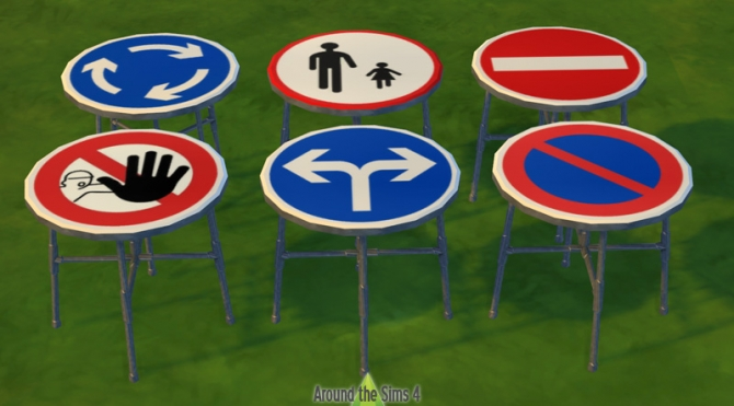 Road Sign outdoor furniture at Around the Sims 4 image 7313 Sims 4 Updates