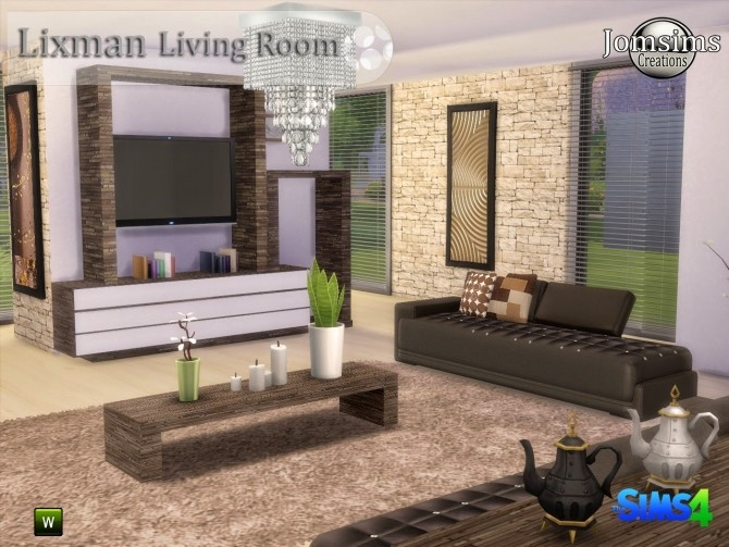Lixman livingroom at jomsims creations sims 4 updates for Living room sims 4