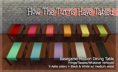Mission table recolors at Pixel Folk image 735 Sims 4 Updates