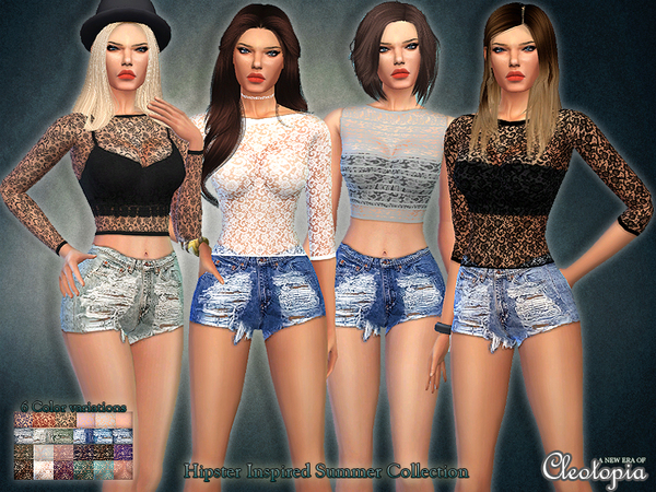 Sims 4 Hipster Inspired Summer Collection by Cleotopia at TSR