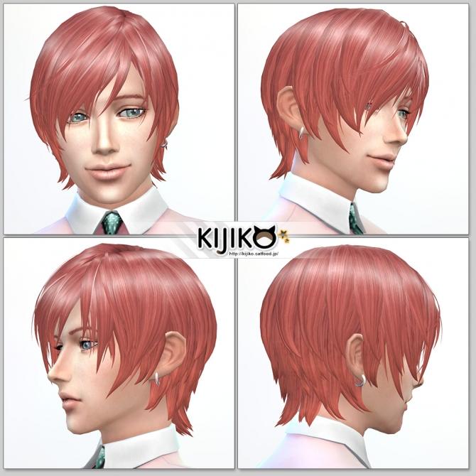 Sims 4 Round Bob (Male) at Kijiko