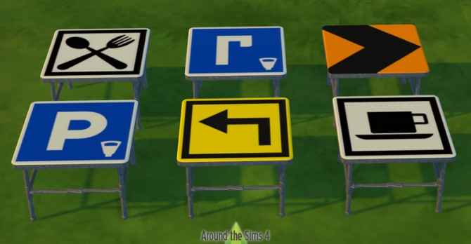 Road Sign outdoor furniture at Around the Sims 4 image 7511 Sims 4 Updates