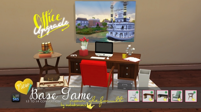 Sims 4 3T4 Office conversion at In a bad Romance