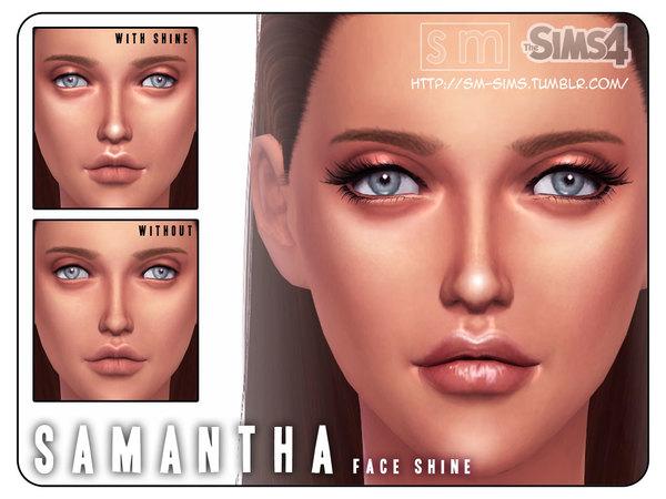 Sims 4 Samantha Face Shine by Screaming Mustard at TSR