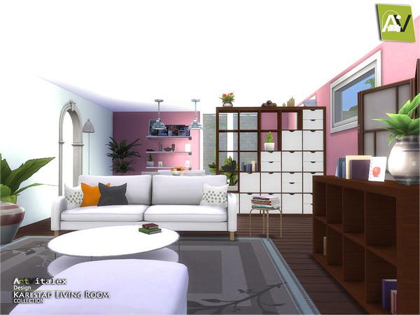 Karlstad living room by artvitalex at tsr sims 4 updates for Living room sims 4