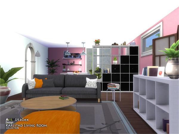 Karlstad Living Room by ArtVitalex at TSR image 7831 Sims 4 Updates