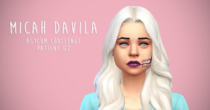 Sims 4 Micah Davila (Asylum Challenge) by simsinmypocket at Mod The Sims